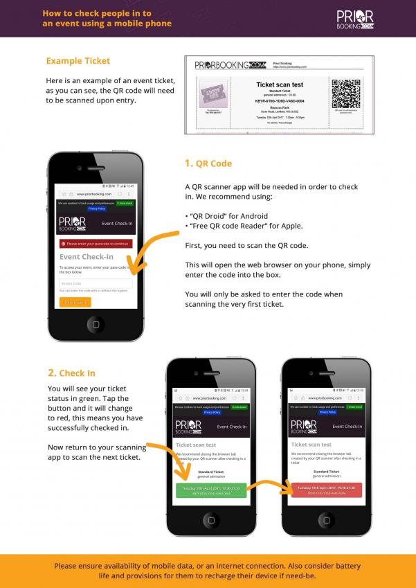 How to check in visitors using a mobile device